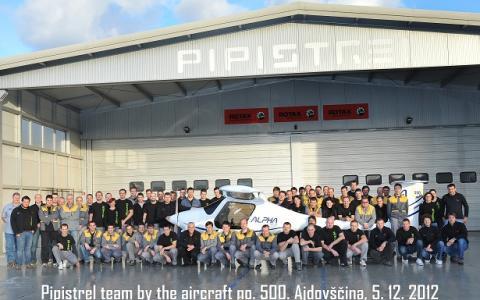 500 samolot Pipistrel wyprodukowany