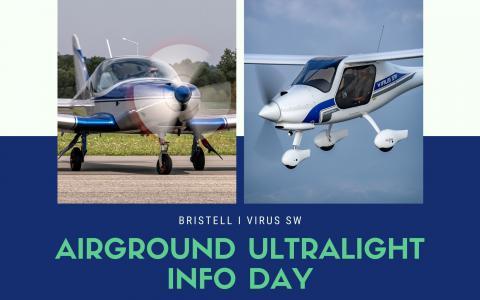 Virus SW i Bristell na AirGround Ultralight Info Day w Kaniowie 21.09.21